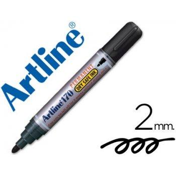 Rotulador artline marcador permanente 170 negro -punta redonda 2 mm -antisecado