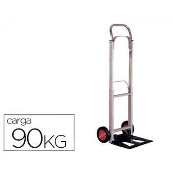 Carretilla portapaquetes -con ruedas -plegable -en aluminio -carga de 90 kg medidas 1110x390x410 mm