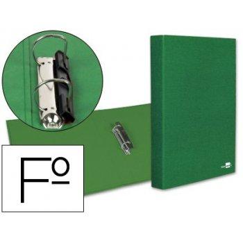 Carpeta de 2 anillas 25mm mixtas liderpapel folio carton forrado paper coat compresor plastico verde