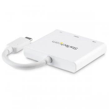 StarTech.com Adaptador Multipuertos USB-C con HDMI - Puerto USB 3.0 - PD de 60W - Blanco