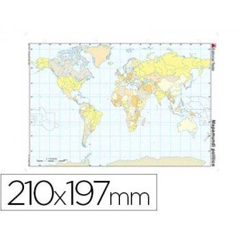 Mapa mudo color din a4 planisferio politico