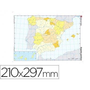 Mapa mudo color din a4 españa -politico