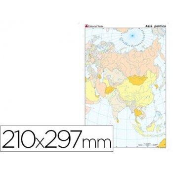 Mapa mudo color din a4 asia -politico