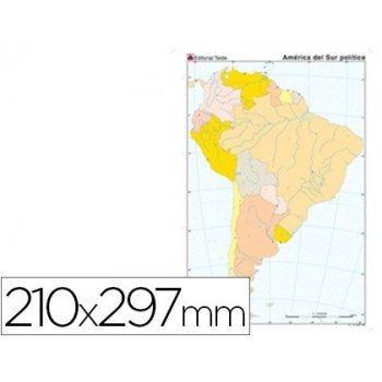 Mapa mudo color din a4 america sur politico