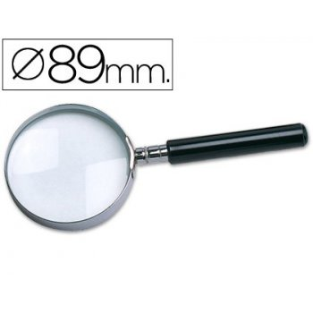 Lupa cristal aro metalico mango negro w-105 89 mm