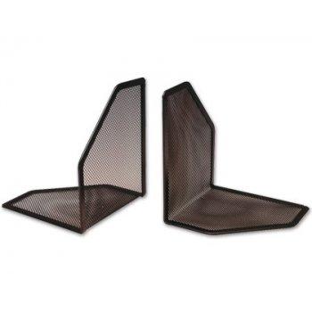 Apoyalibros metalico q-connect rejilla color negro -juego