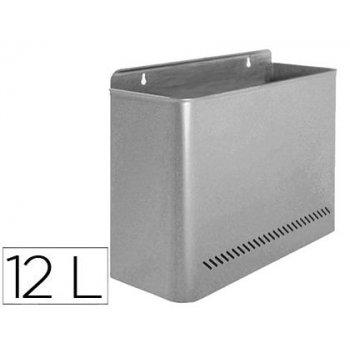 Papelera metalica 99 de pared 285x125x325 gris