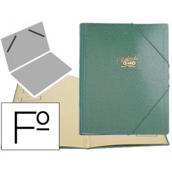 Carpeta clasificador carton compacto saro folio verde -12 departamentos