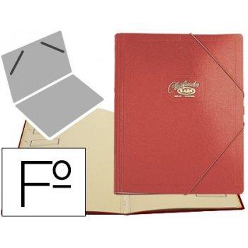 Carpeta clasificador carton compacto saro folio roja -12 departamentos
