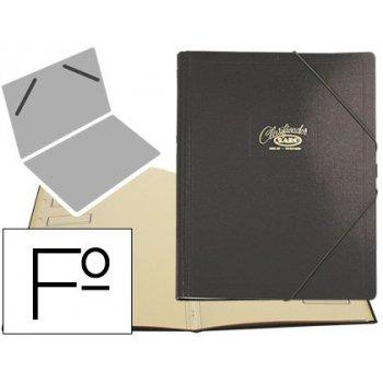 Carpeta clasificador carton compacto saro folio negra -12 departamentos