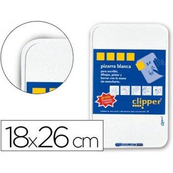 Pizarra blanca clipper pequeña 18x26 cm -con rotulador