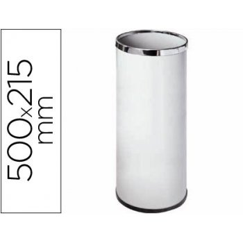 Paraguero metalico 301 blanco medida 50x21.5 -aros cromo