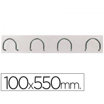 Perchero metalico 611 blanco -pared -4 colgadores