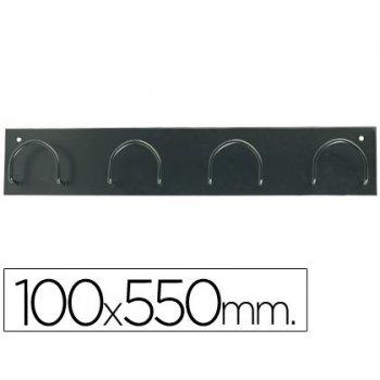 Perchero metalico 611 negro -pared -4 colgadores
