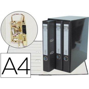 Modulo elba 3 archivadores de palanca din a4 2 anillas negro lomo de 50 mm