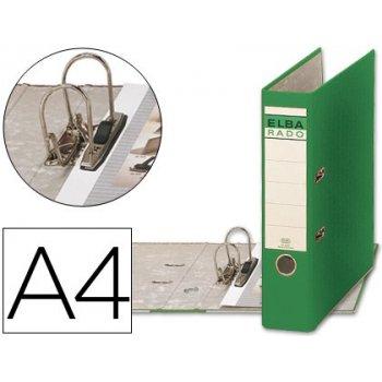 Archivador de palanca elba carton forrado din a4 verde -lomo de 80 mm -rado chic