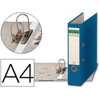 Archivador de palanca elba carton forrado din a4 azul -lomo de 80 mm -rado chic