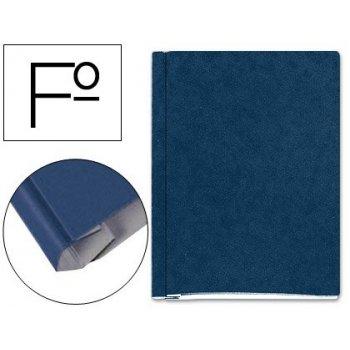 Carpeta proyectos carton compacto gio folio azul -con fuelle e interiores