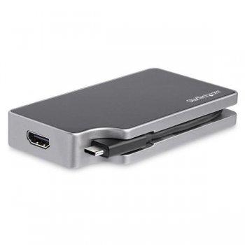 StarTech.com Adaptador USB-C Multipuertos HDMI y VGA - PD 95W - Mac Win Chrome - 4K - USB-A - GbE - Portátil - Docking Station