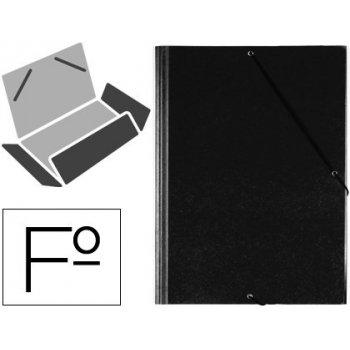 Carpeta gomas solapas plastico saro folio negra