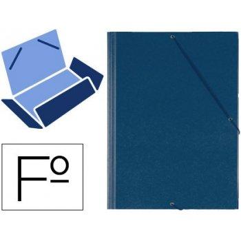 Carpeta gomas solapas plastico saro folio azul