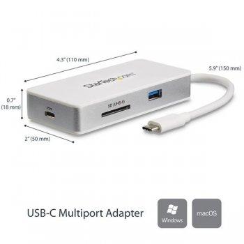 StarTech.com Docking Station para Ordenadores Portátiles USB-C - Replicador de Puertos USB Tipo C HDMI Red Ethernet Lector SD