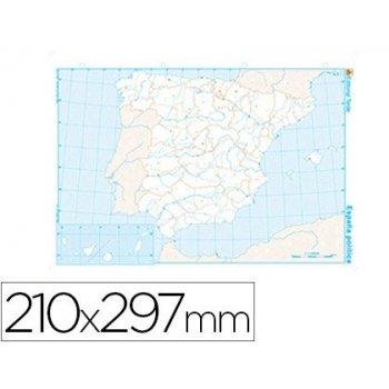Mapa mudo b n din a4 españa -politico