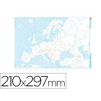 Mapa mudo b n din a4 europa -politico