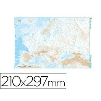 Mapa mudo b n din a4 europa -fisico