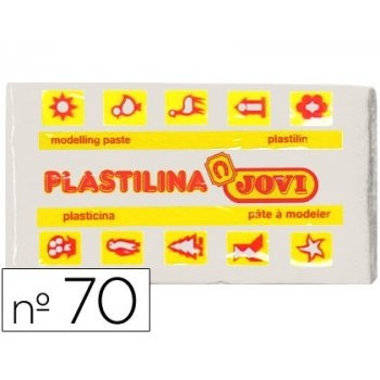 Plastilina jovi 70 blanca -unidad -tamaño pequeño