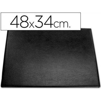 Vade sobremesa plastico 250 negro con bolsa interior -tamaño 48x34 cm