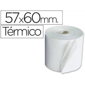 Rollo sumadora termico q-connect 57 mm ancho x 60 mm diametro