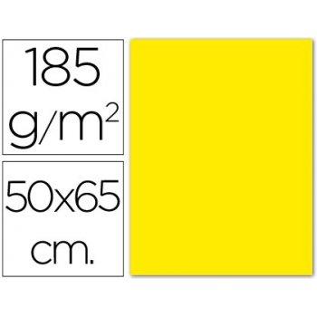 Cartulina guarro amarillo canario 50x65 cm 185 gr