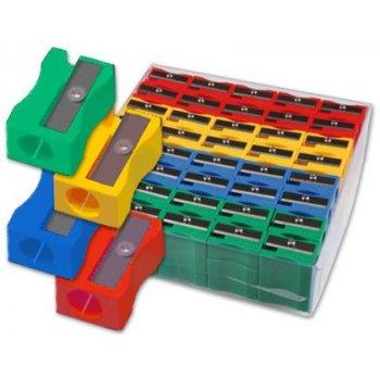 Sacapuntas plastico 80664 1 uso caja de 120 unidades