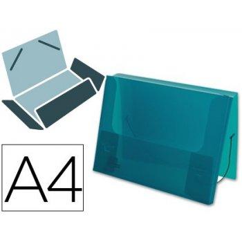 Carpeta beautone portadocumentos gomas 36933 polipropileno din a4 verde transparente -lomo 25 mm