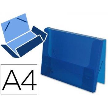 Carpeta beautone portadocumentos gomas 36932 polipropileno din a4 azul transparente -lomo 25 mm