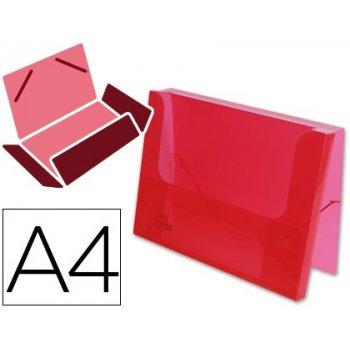 Carpeta beautone portadocumentos gomas 36930 polipropileno din a4 roja transparente -lomo 25 mm