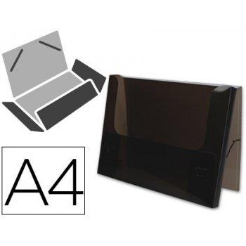 Carpeta beautone portadocumentos gomas 36935 polipropileno din a4 negra transparente -lomo 25 mm
