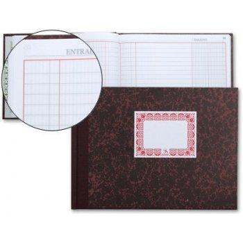 Libro cartone cuarto 100 hojas -caja entrada y salida apaisad