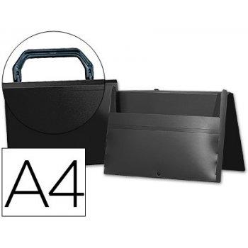 Carpeta beautone portadocumentos broche 34865 polipropileno din a4 negra -con asa