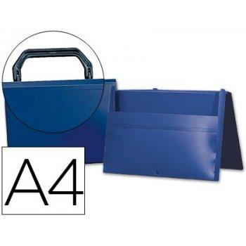 Carpeta beautone portadocumentos broche 34862 polipropileno din a4 azul -con asa