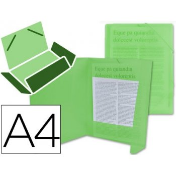 Carpeta liderpapel gomas solapas 34963 polipropileno din a4 verde transparente