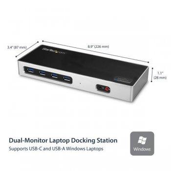 StarTech.com Docking Station 4K Dual con 6 Puertos USB C   USB 3.0