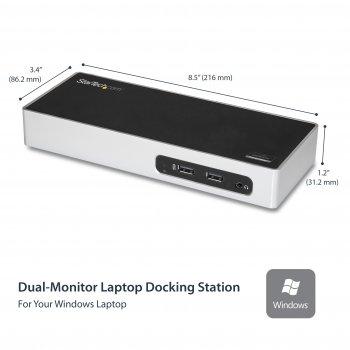StarTech.com Docking Station USB 3.0 para Dos Monitores - 6x USB 3.0