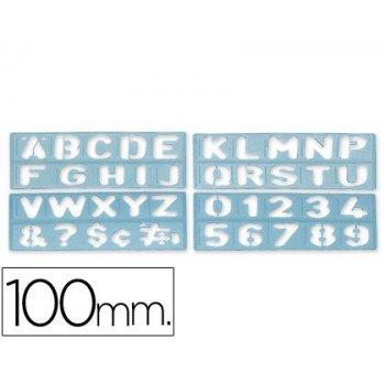 Plantilla rotulacion 1800 -letras y numeros de 100 mm