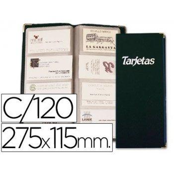 Tarjetero esselte 46125 negro -20 hojas. 10 de 4 y 10 de 3