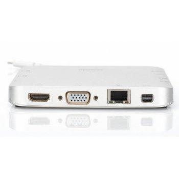 Digitus DA-70863 base para portátil y replicador de puertos Alámbrico USB 3.1 (3.1 Gen 2) Type-C Plata