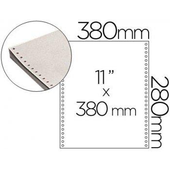 Papel continuo 380x11 blanco -caja de 2500 hojas