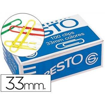 Clips colores paper -caja de 100