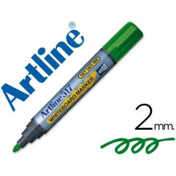 Rotulador artline pizarra ek-517 verde -punta redonda 2 mm -tinta de bajo olor